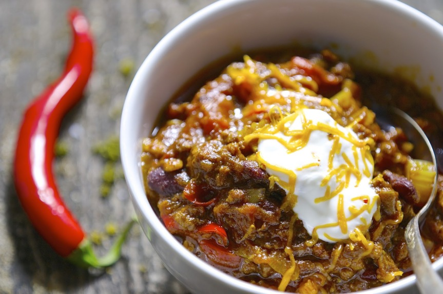 Chili con carne in dark beer
