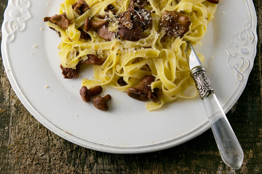 Tagliatelle with chanterelles