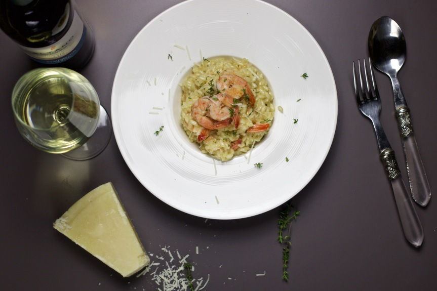 Risotto with shrimp
