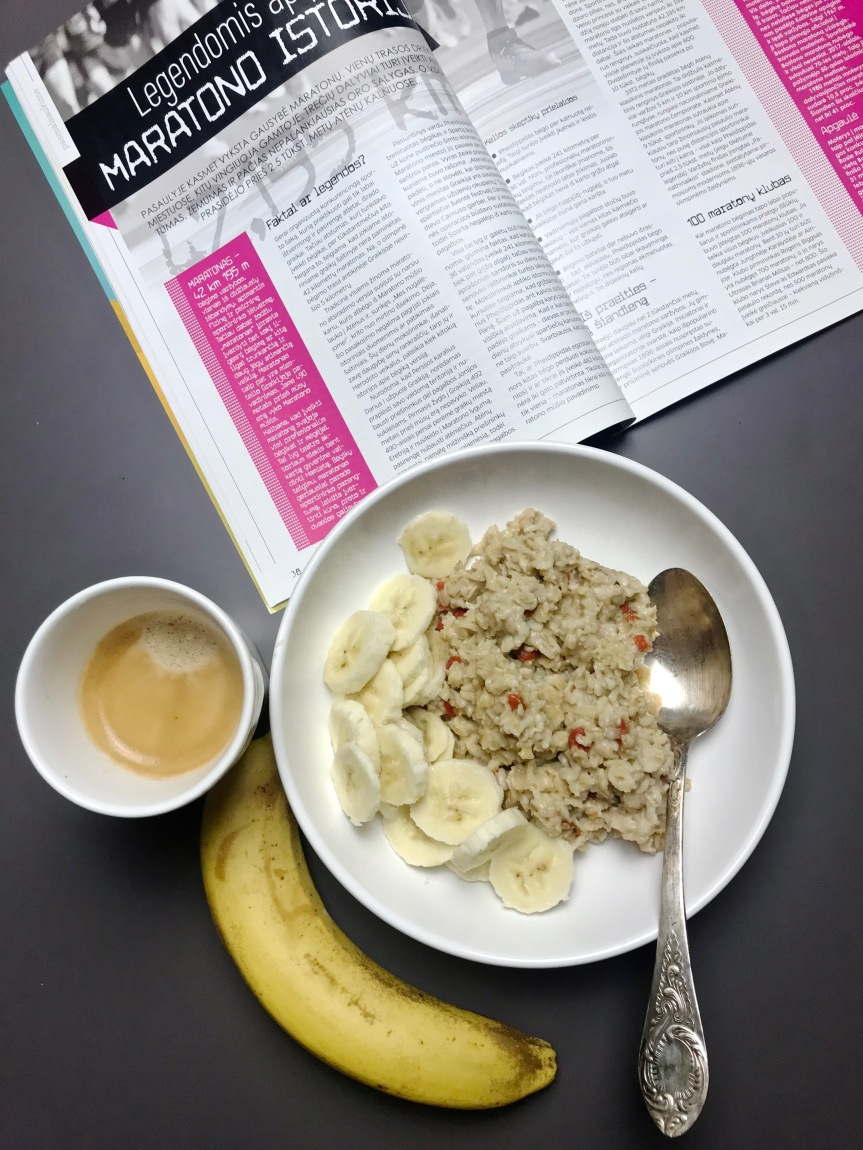 Oat porridge – breakfast of the champions!